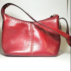 Fossil Sedona Hobo Bag - Red Leather NWOT